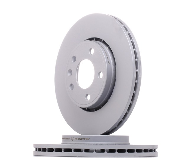 Brake discs and rotors ATE 428132 Vented, Coated, High-carbon, with screws