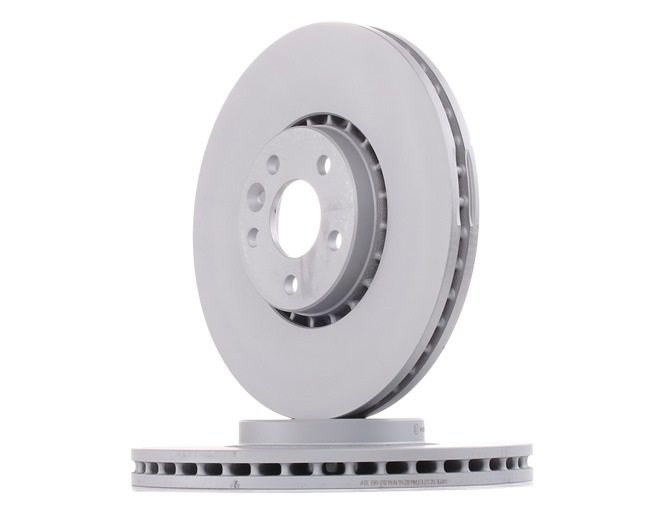 Brake discs and rotors ATE 430212 Vented, Coated, High-carbon