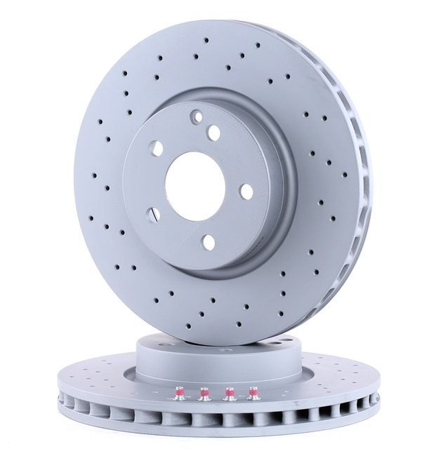 Brake discs and rotors ATE 432100 Perforated / Vented, Coated, Alloyed / High-carbon, with screws