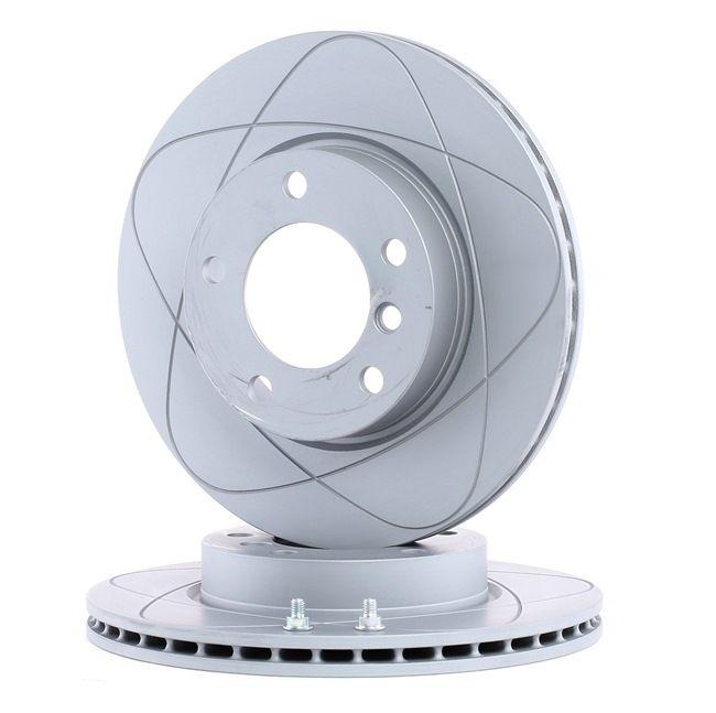 Frenos de disco ATE 522115 ventilado, revestido, altamente carbonizado, con tornillos