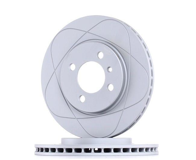Frenos de disco ATE 522122 ventilado, revestido, aleado/alt. carburado