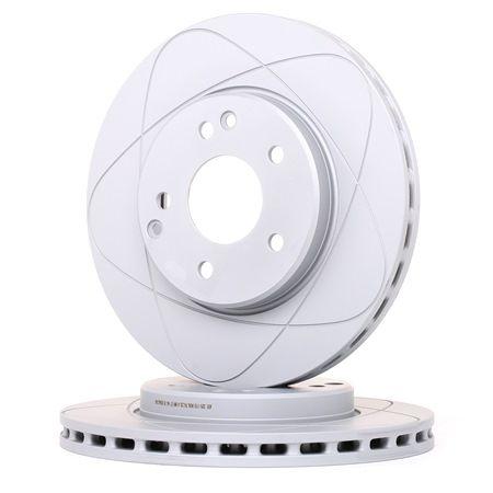 Frenos de disco ATE 525110 ventilado, revestido, aleado/alt. carburado, con tornillos