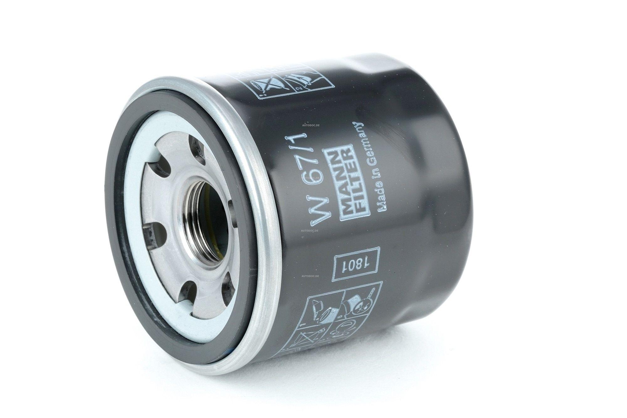 Oil Filter MANN-FILTER W 67/1 rating
