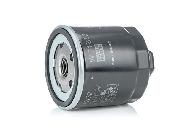 MANN-FILTER Oil filter AUDI Screw-on Filter, with one anti-return valve