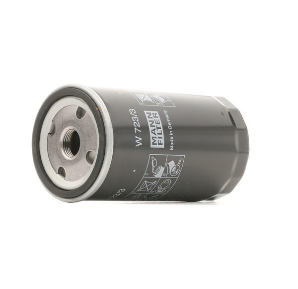 MANN-FILTER Oil filter MERCEDES-BENZ Screw-on Filter, with one anti-return valve