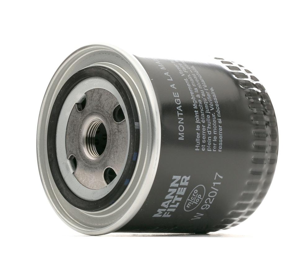 Filter MANN-FILTER W 920/17 Bewertung