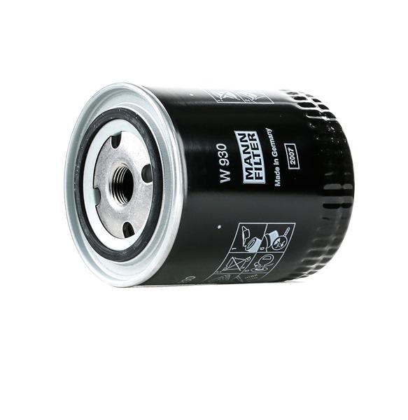 MANN-FILTER Anschraubfilter, mit einem Rücklaufsperrventil W930
