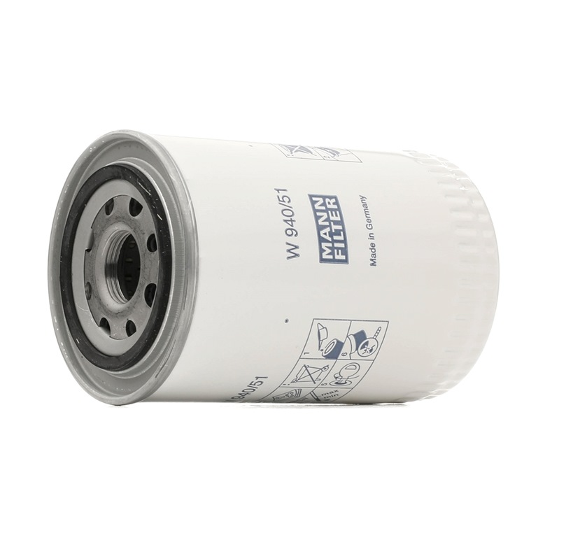 Filter, operating hydraulics MANN-FILTER W 940/51 rating