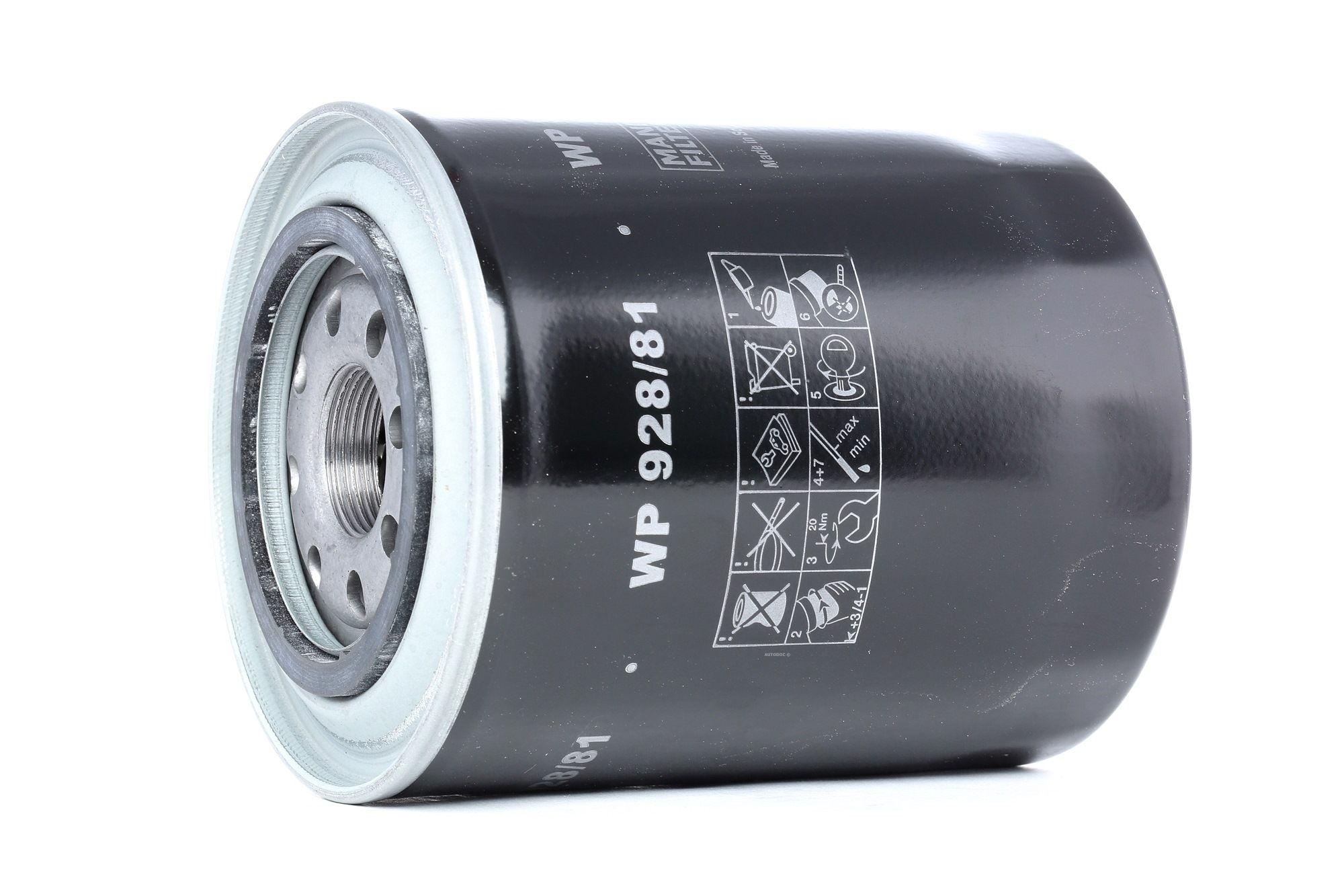 Wechselfilter MANN-FILTER WP 928/81 Bewertung