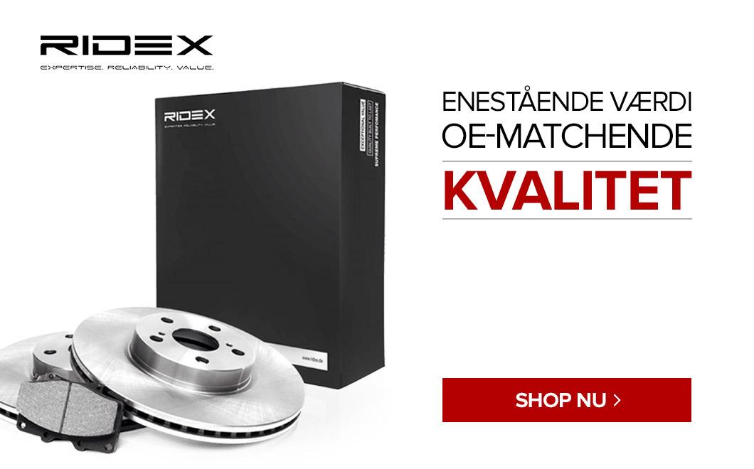 Ridex - Enestående værdi OE-Matchende Kvalitet