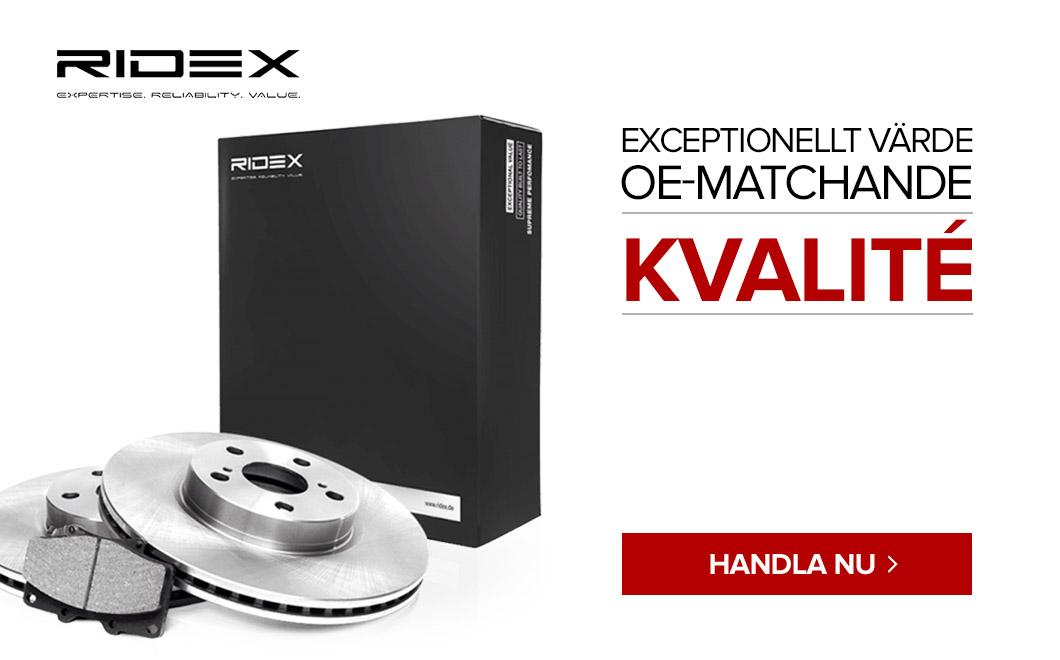 Ridex - Exceptionellt värde OE-Matchande kvalité
