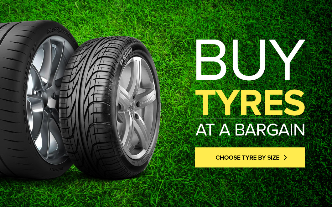 Buy tyres at bargain prices