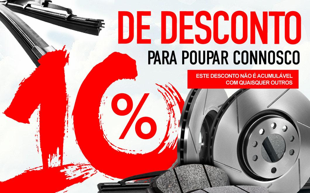 10% de desconto em peças de reposição