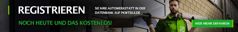 Registrieren Sie Ihre Autowerkstatt in der Datenbank auf pkwteile.de - noch heute und das kostenlos!