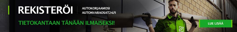 Rekisteröi autokorjaamosi autonvaraosat24.fin tietokantaan tänään ilmaiseksi!