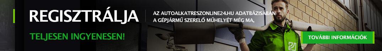 Regisztrálja az autoalkatreszonline24.hu adatbázisában a gépjármű szerelő műhelyét még ma, teljesen ingyenesen!