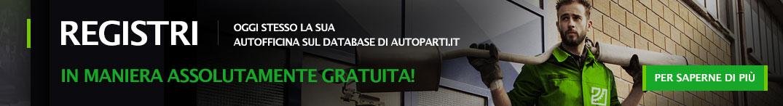Registri oggi stesso la Sua autofficina sul database di autoparti.it in maniera assolutamente gratuita!