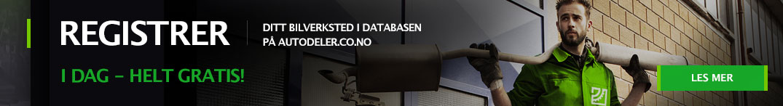 Registrer ditt bilverksted i databasen på autodeler.co.no i dag - helt gratis!