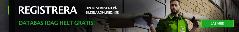 Registrera din bilverkstad på bildelaronline24.se databas idag helt gratis!