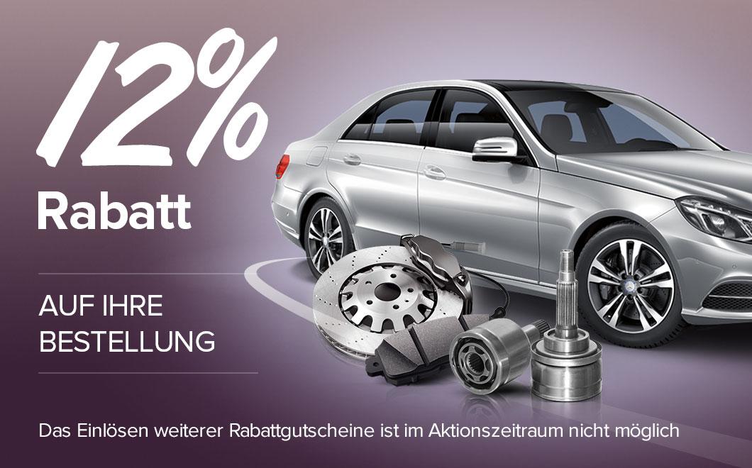 10% Rabatt auf Autoteile, die Sie so sehr lieben