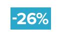 26% korting