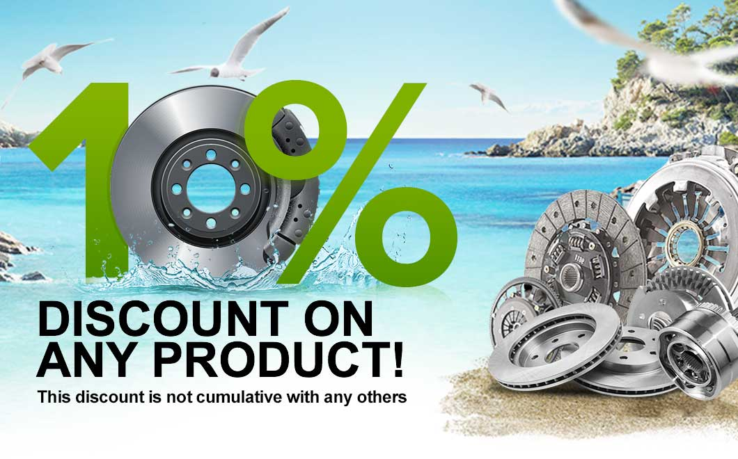 10% discount on spare parts that you love so much