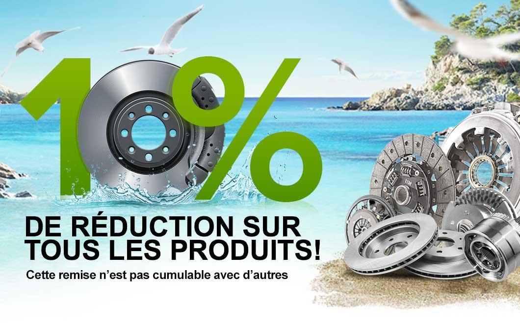 10% de réduction sur vos produits préférés