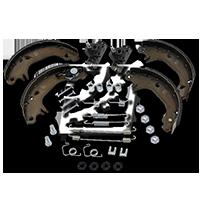 Bremsensatz für OPEL CORSA C (F08, F68) 1.2 75 PS ab Baujahr 09.2000 JURID Bremsensatz, Trommelbremse (381358J) für