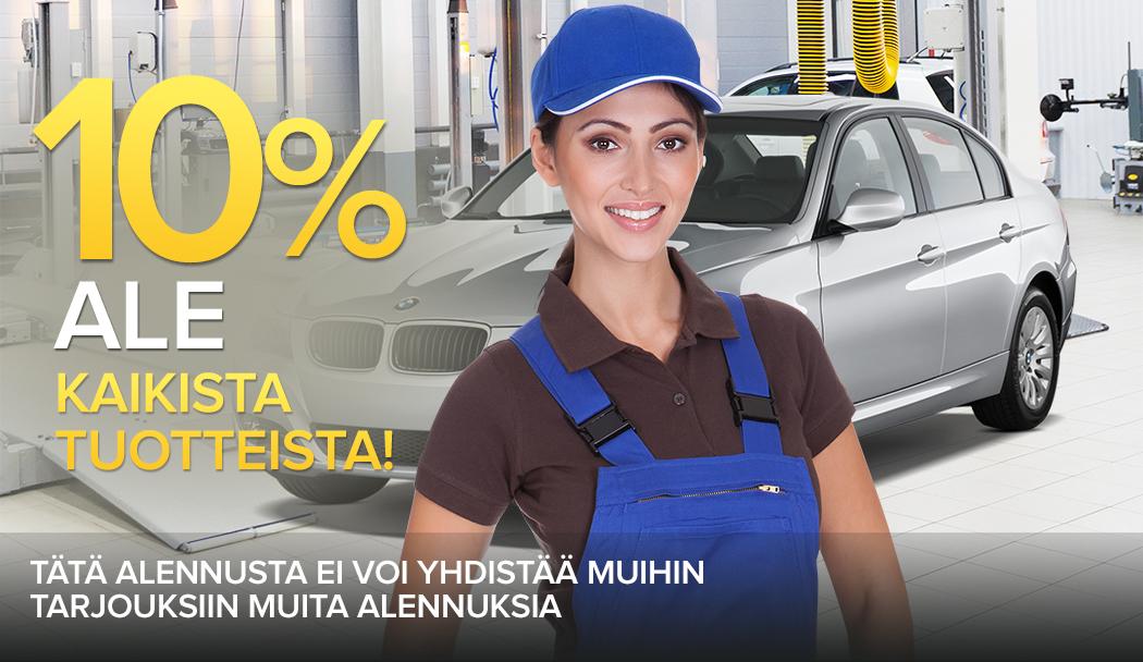 10% ale kaikista tuotteista - Tätä alennusta ei voi yhdistää muihin tarjouksiin muita alennuksia