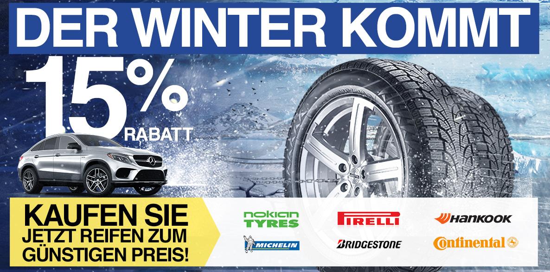 Der Winter kommt. Kaufen Sie jetzt Reifen zum günstigen Preis!