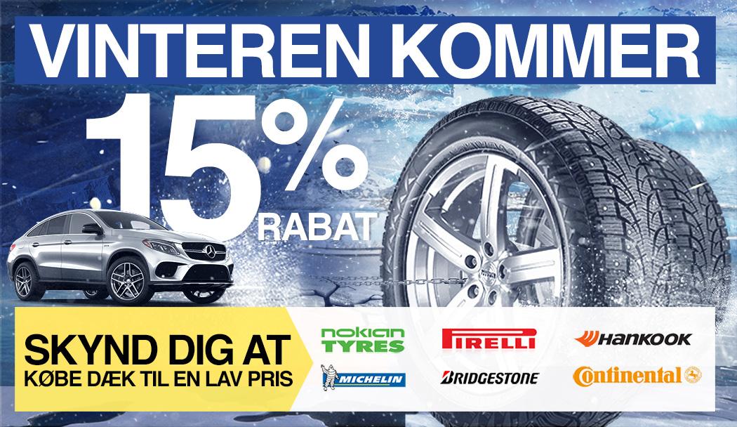 Vinteren kommer. Skynd dig at købe dæk til en lav pris.