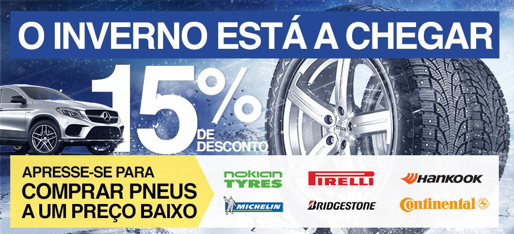 O inverno está a chegar. Apresse-se para comprar pneus a um preço baixo