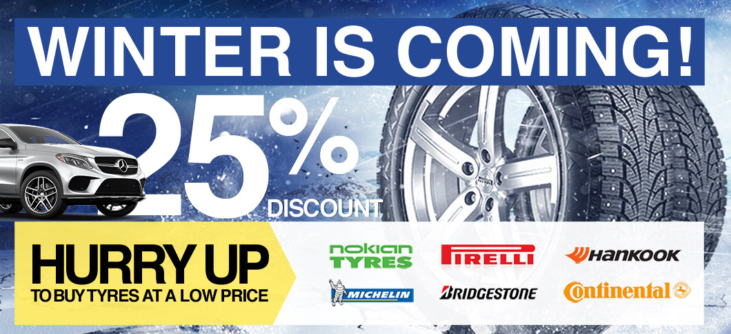 Winter is coming. Hurry up to buy tyres at a low price