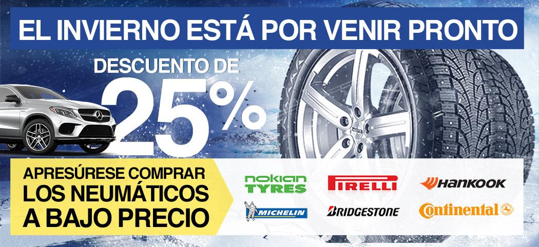 El invierno está por venir pronto. Apresúrese comprar los neumáticos a bajo precio