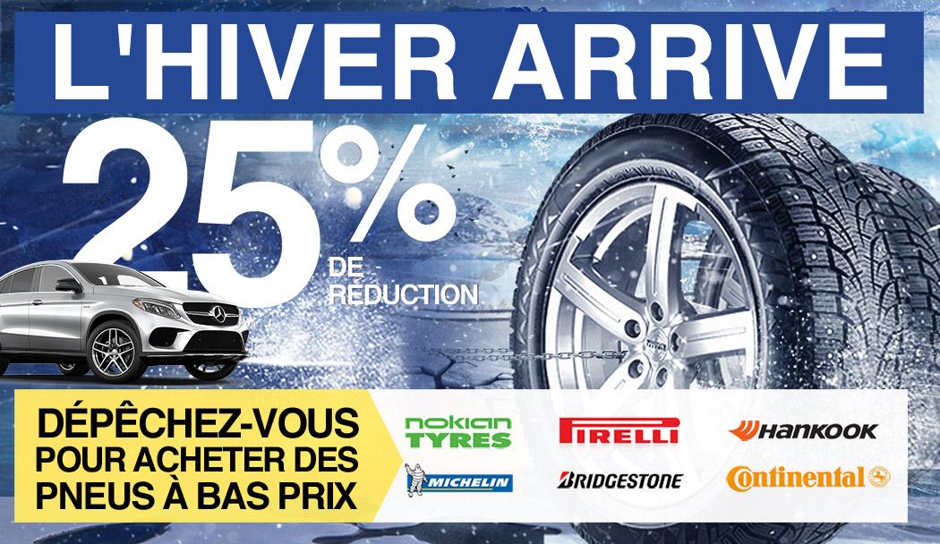 L'hiver arrive. Dépêchez-vous pour acheter des pneus à bas prix