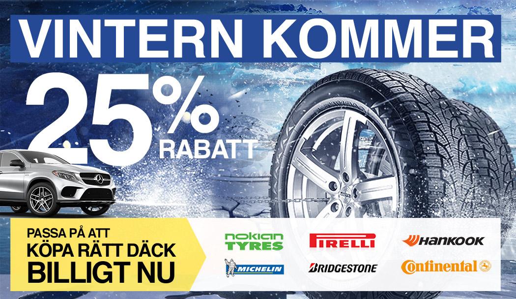 Vintern kommer. Passa på att köpa rätt däck billigt nu.
